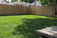 New Sod and Fence Installation