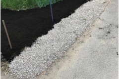 Mulch and River rock installation