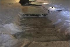 Walkway shovelling